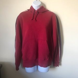 GAP Red Hoodie Medium Pullover With Pockets
